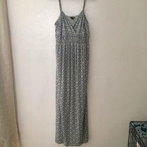 Maxi Dress with Tribal Print